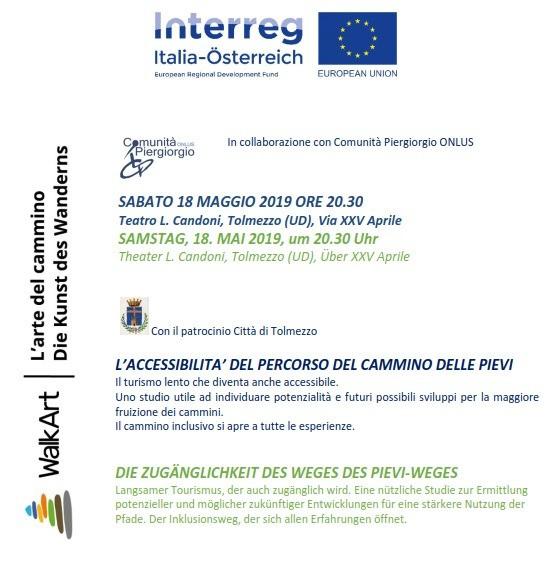 Conferenza L'ACCESSIBILITA' DEL PERCORSO DEL CAMMINO DELLE PIEVI